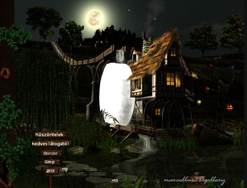 Watermill - made Gimp and Blender programs
